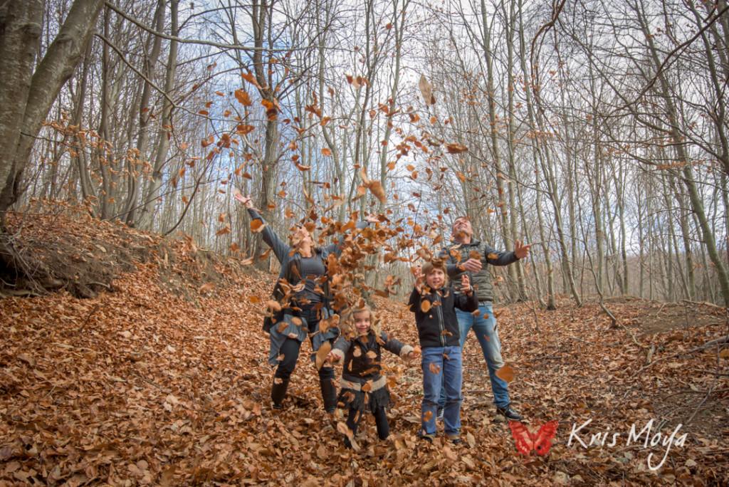reportaje de familia en otoño